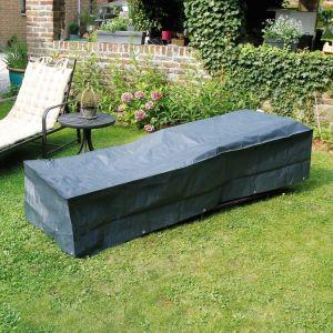 Nature Housse de protection bain de soleil 205x78xH40 cm gris/noir GRAPHITE