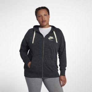 Nike Grande Taille - Sweat à capuche entièrement zippé Sportswear Gym Vintage pour Femme - Noir - Taille 3X