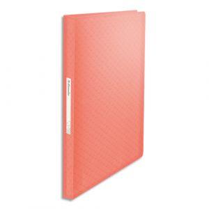 Esselte Protège-documents Colour'Ice - polypropylène 5/10ème - 80 pochettes - 160 vues - pêche