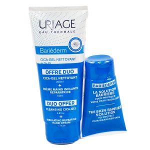 Uriage Bariéderm Cica-Gel Nettoyant 200 ml + Crème Mains Isolante Réparatrice 50 ml