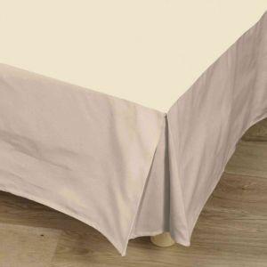 Tradilinge Cache-sommier naturel 100% coton 90x190 cm