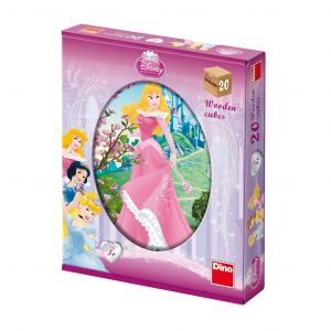 Dino Puzzle Cubes en Bois - Disney Princess