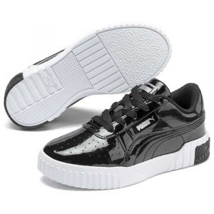 Puma Cali Patent PS', Baskets Fille, Black Black, 30 EU