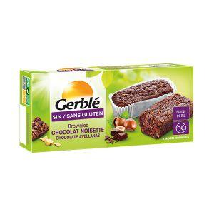 Gerblé Brownie chocolat noisette, sans gluten - Le sachet de 150g