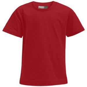 Promodoro T-shirt Premium Enfants, 140, rouge feu