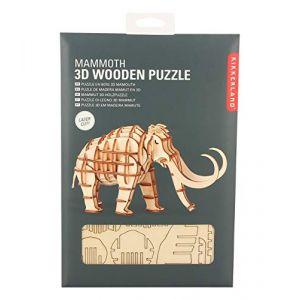 Kikkerland Puzzle 3D en bois Mammouth