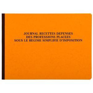 Exacompta Journal recettes-dépenses des professions 80 pages (270 x 380 mm)