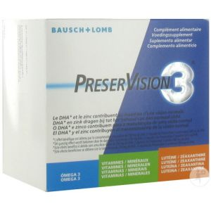 Bausch & Lomb PreserVision 3 Complément Alimentaire Vision Normale 180 Capsules