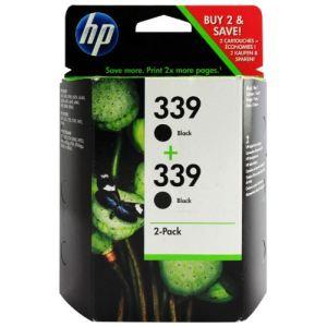 HP C9504EE - Twin Pack de 2 cartouches d'encre n°339 noire