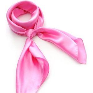 Allée du foulard Carré de soie Premium Uni Rose
