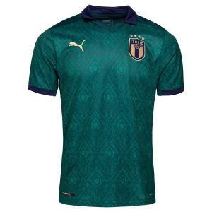 Puma Maillot troisième tenue Italia Replica pour Homme, Vert/Bleu, Taille XXL