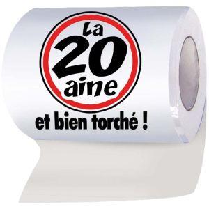 """Papier WC humoristique """"La 20aine et bien torché !"""""""