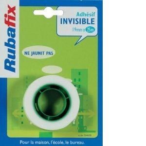 Rubafix 364600 - Ruban adhésif invisible, 19mm x 25m, sans dévidoir