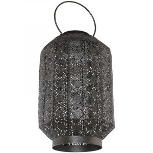 Eglo LED solaire extérieur lampe suspendue décoratif poinçonnage jardin balcon décoration lampe suspendue argent antique 48655