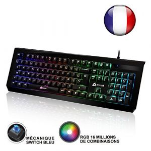 Klim Domination - Clavier Mécanique AZERTY RGB 2017 Blue Switches