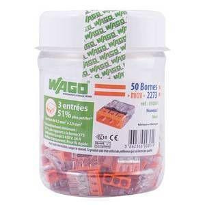 Wago Flacon de 50 mini bornes 3 fils S2273