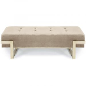No Banquette Istanbul Velours Taupe Pieds Or