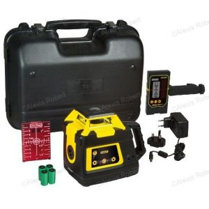 Stanley 6-97-730 - Niveau laser rotatif double pente manuelle Fatmax RL HW + accessoires