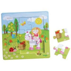 Haba Puzzle cadre en bois : Le Jardin Féérique (9 pièces)