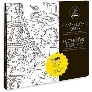 Omy Poster géant à colorier : Paris (100 x 70 cm)