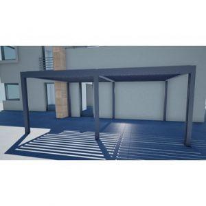 Pergola Orient 18 m² autoportante en aluminium gris anthracite