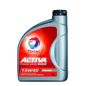 Total Huile moteur Activa 5000 15W40 Diesel 2 L