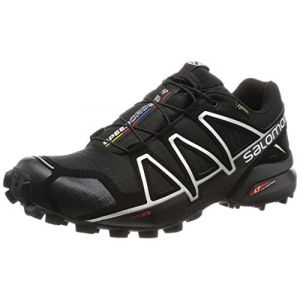 Salomon Homme Speedcross 4 GTX Chaussures de Trail Running, Imperméable, Noir (Black/Black/Silver Metallic -X), Taille: 44