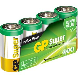 GP Batteries Pack de 4 piles LR14