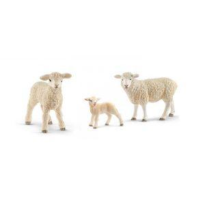 Schleich Figurines animaux de la ferme agneaux