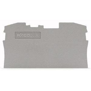Wago 2006-1291 - Plaque d'extrémité et intermédiaire Contenu: 100 pc(s)
