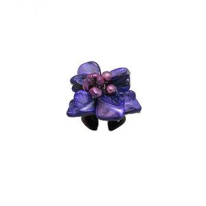 Blue Pearls Nub 3402 E - Bague ajustable Fleur Nacre et Perle