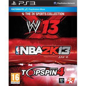 Coffret sport NBA 2K13 + WWE 13 + Top Spin 4 [PS3]