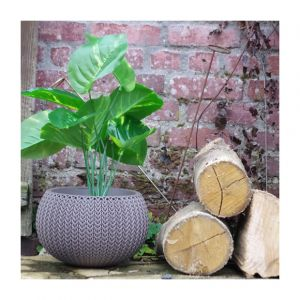 Chalet et Jardin Cache pot aspect tricoté taille S