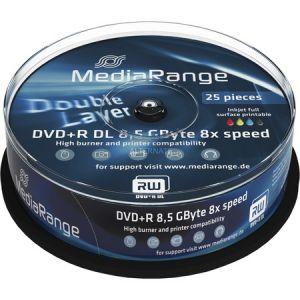 MediaRange 25 DVD+R DL 8.5 Go 8x imprimable