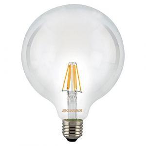 Sylvania Ampoule LED a filament Toledo RT G120 E27 7,5W équivalence 75W - E27 - 7,5W équivalent à 75W - Flux lumineux : 1000lm - Température de couleur : 2700K - Blanc chaud.