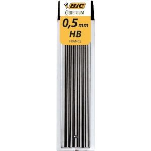 Bic 97432 Mine 0.5mm Hb Étui Lot de 12 Assorties