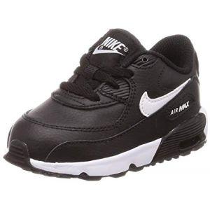 Nike Chaussures enfant Air Max 90 BB Noir Blanc Noir - Taille 21,22,25,26,27