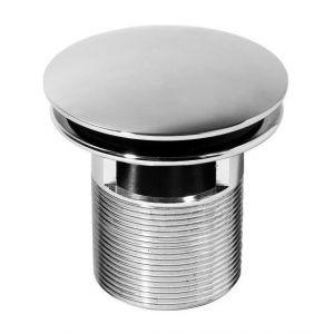 Wirquin Bonde lavabo design Quick-Clac laiton 75mm - En laiton chromé Quick-Clac pour vasque avec trop-plein - S'ouvre et se ferme d'une simple pression sur le clapet - Se visse et se dévisse par le dessus (maintenance facile)