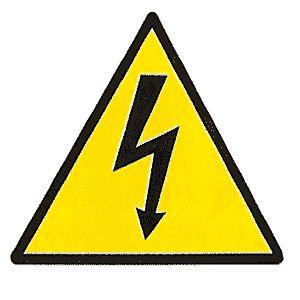 """Taliaplast 729932 - Panneau adhésif dimension 100 x 100 mm """"danger électrique"""""""