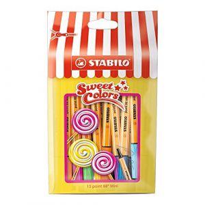 Stabilo Point 88 Mini - Sachet Sweet Colors de 15 stylos-feutres pointe fine (Édition Limitée)