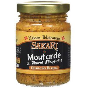 Sakari Moutarde au Piment d'Espelette 100 g - Lot de 7