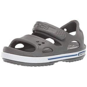 Crocs Crocband Ii Sandal, Sandales Bout Ouvert Mixte Enfant, Gris (Slate Grey/Blue Jean 0db), 27/28 EU