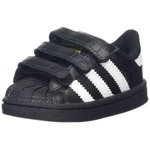 Adidas Superstar, Sneakers Basses Mixte Bébé, Noir (Core Black/Footwear White), 24 EU