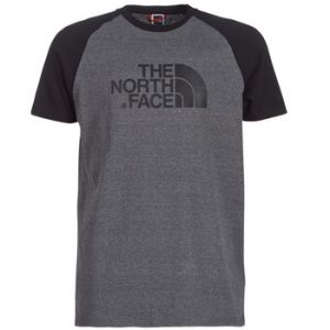 The North Face S/S Raglan Easy Tee - T-shirt taille XL, gris/noir
