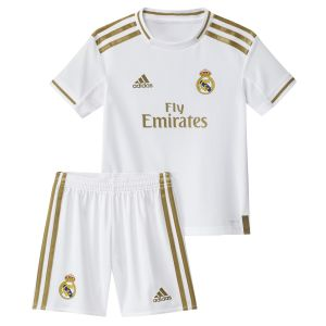 Adidas Kit Mini Domicile Real Madrid 2019-20 - Couleur White - Taille 5-6 Years