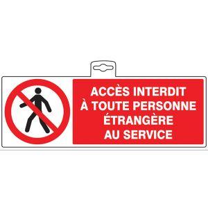 Taliaplast 621204 - Panneau Accès interdit personne étrangère 330x200