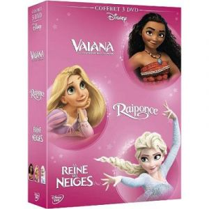Coffret 3 films : Vaiana, la légende du bout du monde + la Reine des Neiges + Raiponce
