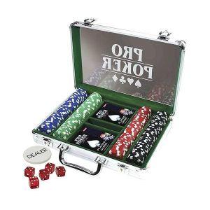 Tactic Mallette de Poker en métal (200 jetons)