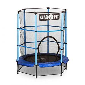 Klarfit Rocketkid Trampoline 140cm Filet de sécurité bleu