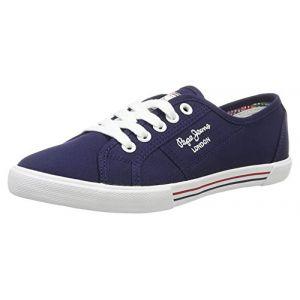Pepe Jeans London, Sneakers Basses Femme, Bleu (Marine), 41 (EU)